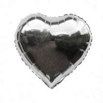 Heart Silver Foil Balloon  22 inch