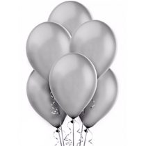 Silver Pearl Latex Balloons- set of 10