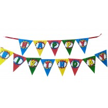 Super Heroes Happy Birthday Bunting
