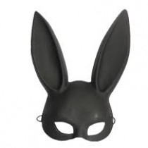 Mask - Black Bunny